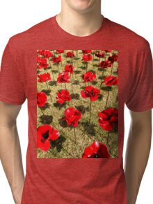 Tower of London Poppies Tri-blend T-Shirt