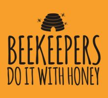 Cool 'Beekeepers Do It With Honey' Beekeeper T-Shirt and Accessories by Albany Retro