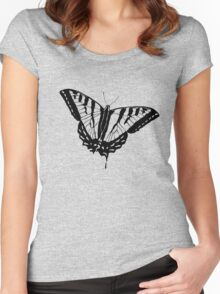 Butterfly Clear Women's Fitted Scoop T-Shirt