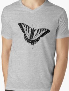Butterfly Clear Mens V-Neck T-Shirt