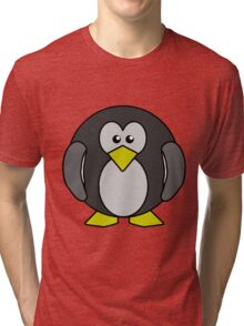 Cartoon penguin Tri-blend T-Shirt