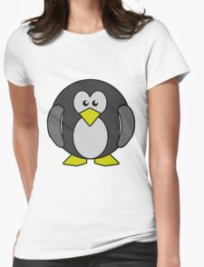 Cartoon penguin Womens Fitted T-Shirt