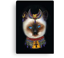 Pharaoh Cat Art Canvas Print