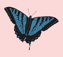 Butterfly - Blue Kids Tee