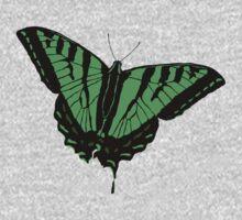 Butterfly - Green One Piece - Long Sleeve