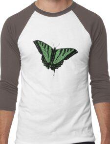 Butterfly - Green Men's Baseball ¾ T-Shirt