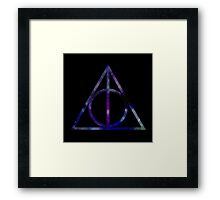 Harry Potter and the Deathly Hallows // triangle Framed Print