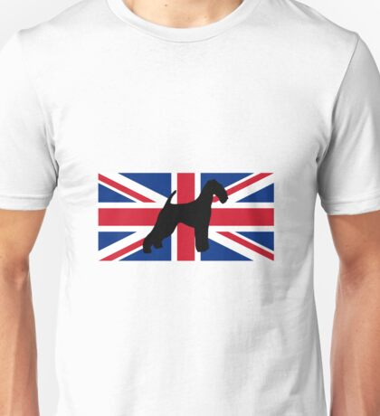 AT silhouette on flag Unisex T-Shirt
