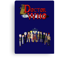Doctor Who Time Canvas Print