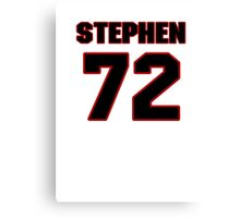 NFL Player Stephen Bowen seventytwo 72 Canvas Print