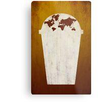 Coffee World Metal Print