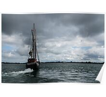 Sailing Into the Storm Poster