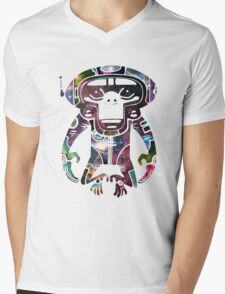 Space Monkeyz Celestial Graphic Mens V-Neck T-Shirt