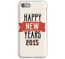 A retro Happy New Years Eve design iPhone Case/Skin