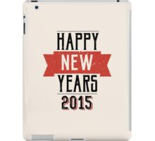 A retro Happy New Years Eve design iPad Case/Skin