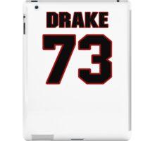 NFL Player Drake Nevis seventythree 73 iPad Case/Skin