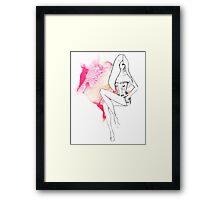 chic lingerie Framed Print