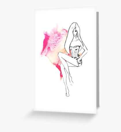chic lingerie Greeting Card