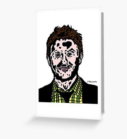 Chris Hardwick Colour/Color Nerdist Fanart Portrait JTownsend Greeting Card