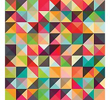 A pixel art style background design Photographic Print