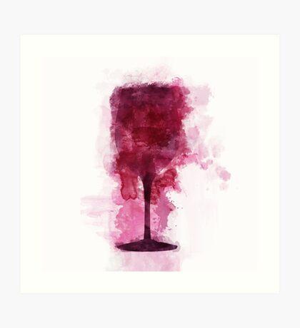 Wine Glass Illustration Art Print