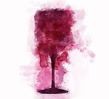 Wine Glass Illustration by Jane Terekhov