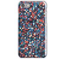 A pixel art style background design iPhone Case/Skin