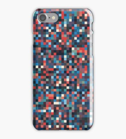 A pixel art style background design iPhone Case/Skin
