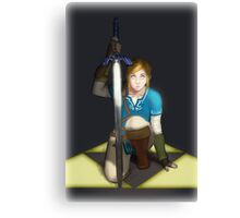 Legend of Zelda- Wii U Link- Kneel Canvas Print