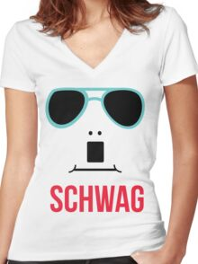 Schwag Women's Fitted V-Neck T-Shirt