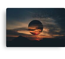 Red Sky Distorted Canvas Print