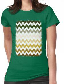 Cactus Garden Chevron 1 Womens Fitted T-Shirt