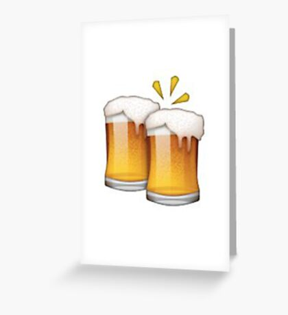 Beer Emoji Greeting Card