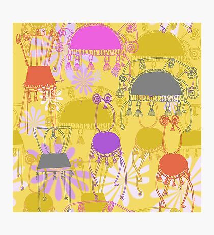 fancy chairs with spirals and tassels Photographic Print