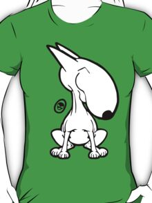 English Bull Terrier Smug Sit T-Shirt