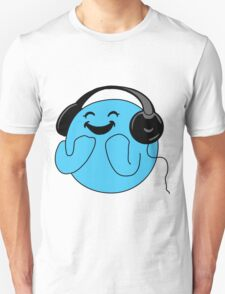 Happy music smiley face Unisex T-Shirt