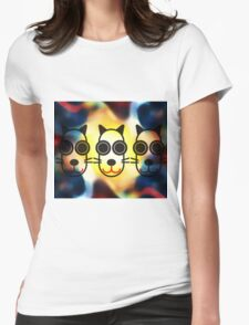MOODI 3 cat, by m a longbottom - PLATFORM58 Womens Fitted T-Shirt