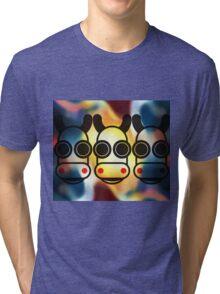 MOODI 3 cow, by m a longbottom - PLATFORM58 Tri-blend T-Shirt