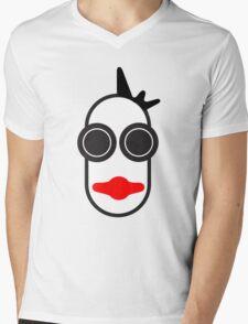 MOODI face, by m a longbottom - PLATFORM58 Mens V-Neck T-Shirt