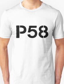 P58 - LOGO BLACK ON WHITE OR LIGHT Unisex T-Shirt