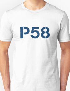 P58 - LOGO BLUE ON WHITE OR LIGHT Unisex T-Shirt