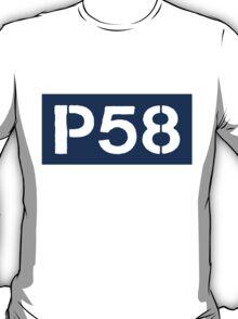P58 - LOGO IN BLUE RECTANGLE T-Shirt