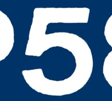 P58 - LOGO IN BLUE RECTANGLE Sticker