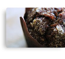 Sticky toffee mufin Canvas Print