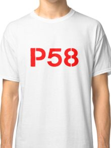 P58 - LOGO RED ON WHITE OR LIGHT Classic T-Shirt
