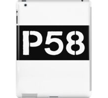 P58 - LOGO IN BLACK RECTANGLE iPad Case/Skin