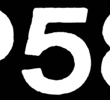 P58 - LOGO IN BLACK RECTANGLE Sticker