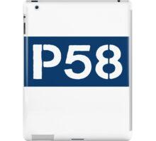 P58 - LOGO IN BLUE RECTANGLE iPad Case/Skin