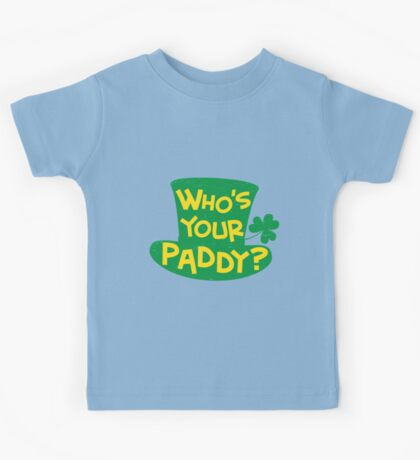 Who's Your Paddy Leprechaun Hat Kids Tee