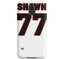 NFL Player Shawn Lauvao seventyseven 77 Samsung Galaxy Case/Skin